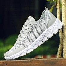 Big Size 48 mężczyźni obuwie letnie oddychające siatkowe trampki męskie tanie zasznurować miękkie gumowe Unisex buty sportowe Walking płaskie buty męskie