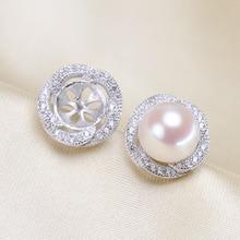 Hot tanie moda kolczyki z perłami, kolczyki, kolczyki na sztyft ustawienia biżuteria części akcesoria