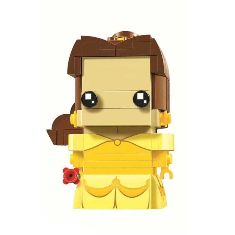 New Brickheadz Bell Beauty And The Beast Girl Friends Princess Creator Winter Legoinglys Christmas Tree Snow Toys For Children 34