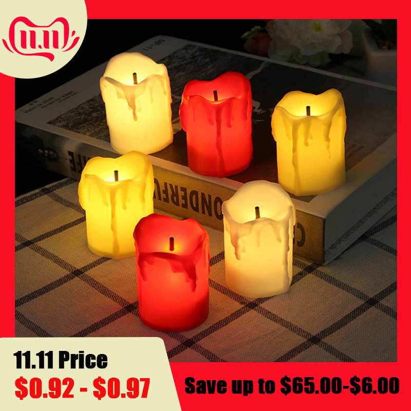 1PC Flameless LED Candle Light Simulated Electric Flickering Tea Light Candle Lamp Wedding Christmas Party Home Decor 5*3.5CM