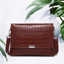 Genuine Leather Flap One-Shoulder Messenger Bag