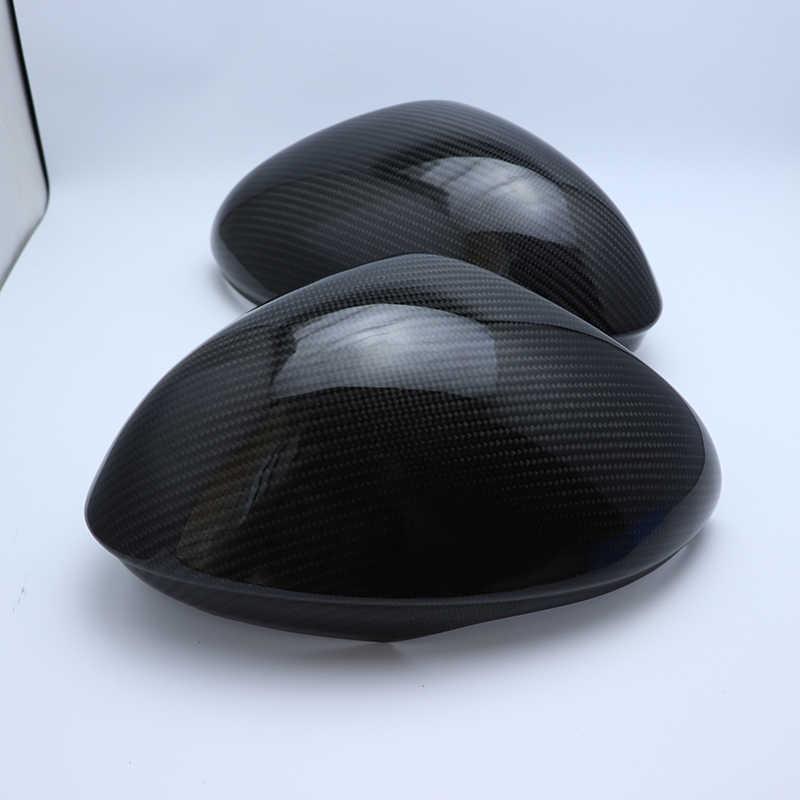 100% ريال ألياف الكربون قذيفة الرياضة نمط غطاء مرآة جانبية كاب ل الفا روميو جوليا 2015-2018 ستلفيو 2016-2019 سيارة التصميم