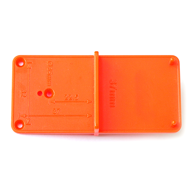 Hinge Hole Woodworking Practical Template Drilling Guide Orange Cabinets DIY Tool Durable Locator Door
