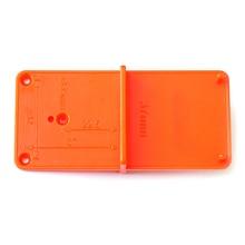 Hinge Hole Woodworking Practical Template Drilling Guide Orange Cabinets DIY Tool Durable Locator Door