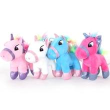 15cm Soft Stuffed Animal Baby Toy Dolls Lovely Cartoon Unicorn Plush Toys For Kids Toys Children Baby Birthday Christmas Gift