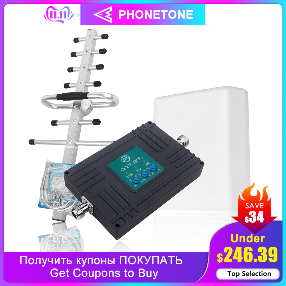 Repeater 4G 3G GSM Amplifier Cell Phone Signal Booster Gd 900 CDMA 800 UMTS 2100 Mhz Booster LTE Cellular Amplifier 900 800 2100