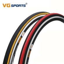 KENDA-pneus de vélo rétro ultralégers de vélo de route, 700 x 23C, pneus 700 x 23C, 700C, 430g, côté rouge et jaune