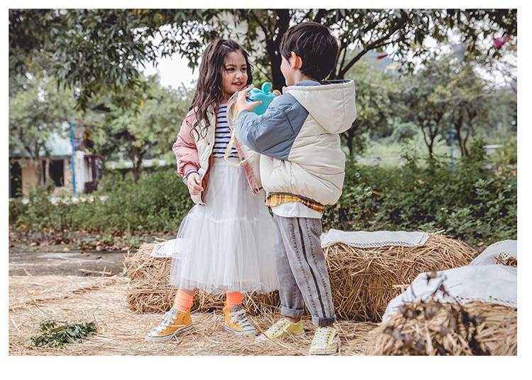 crianças menina parkas macacão da criança com