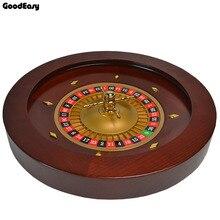 Jogo de poker de roleta de madeira, conjunto de chips de roleta de madeira de alta qualidade para casinho, roda de roleta, bingo, jogos de entretenimento
