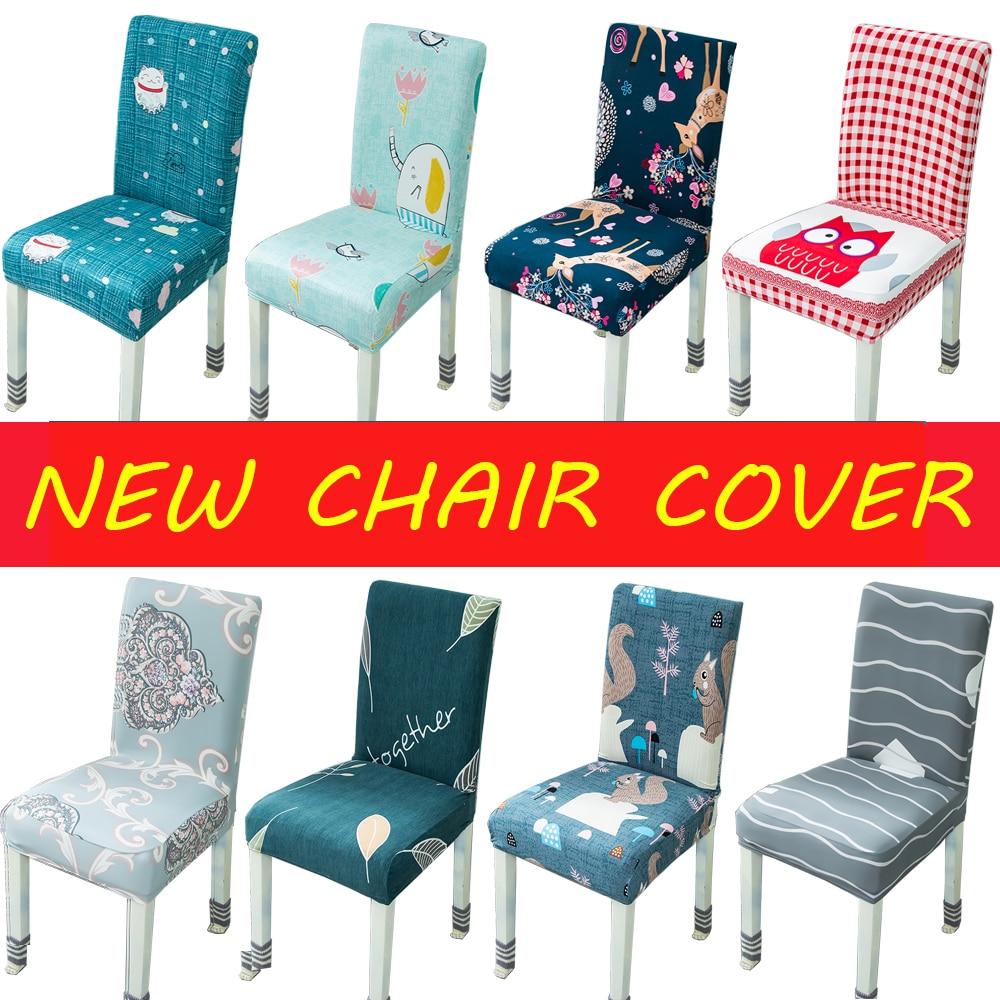 Новый дизайн печатных чехлы на кресла стрейч сиденье, стул для кормления чехлы протектор Slipcover отель банкетное застолье комната офис стул