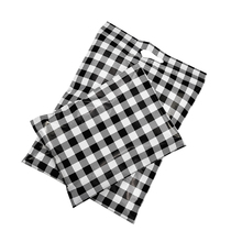 100Pcs Black White Grids Poly Mailers Waterproof Shipping Bags With Handle Clothes Packaging Courier Bag Mailing Envelopes