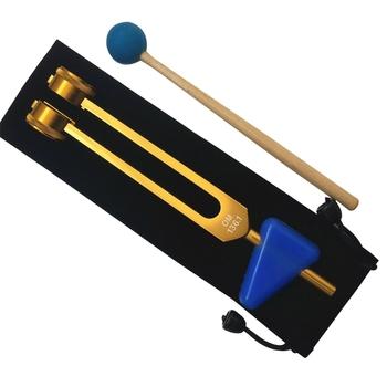 OM 136 1Hz kamerton s zestaw Chakra kamerton Sound Healing Fork Crystal Fork Tuning Therapy Tool wszystko w etui i drewniane 62KA tanie i dobre opinie OOTDTY CN (pochodzenie) 62KA8YY604672-GG