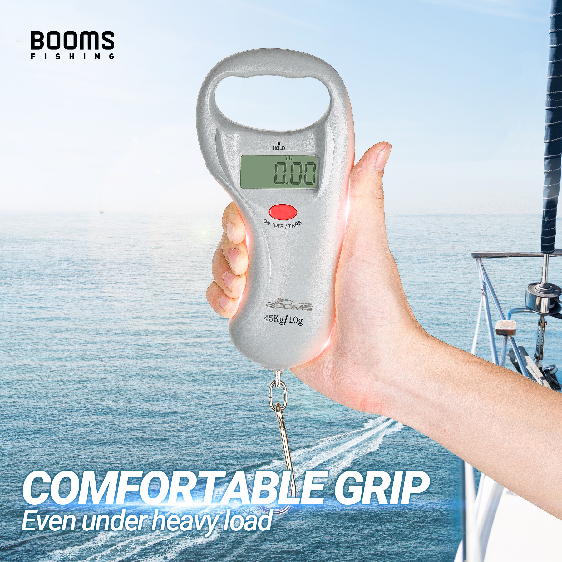 Booms Fishing C02 Digital Fish Scales with Tape Measure