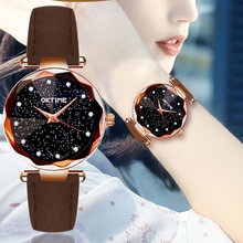 Fashion Women Female Quartz Watch Ladies Starry Sky Life Waterproof Leather