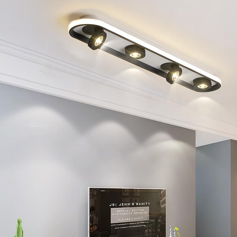 Modern Led Ceiling Chandelier For Living Room Bedroom Shop Lobby Balcony Aisle White Black Color 90-260V Creative Chandelier