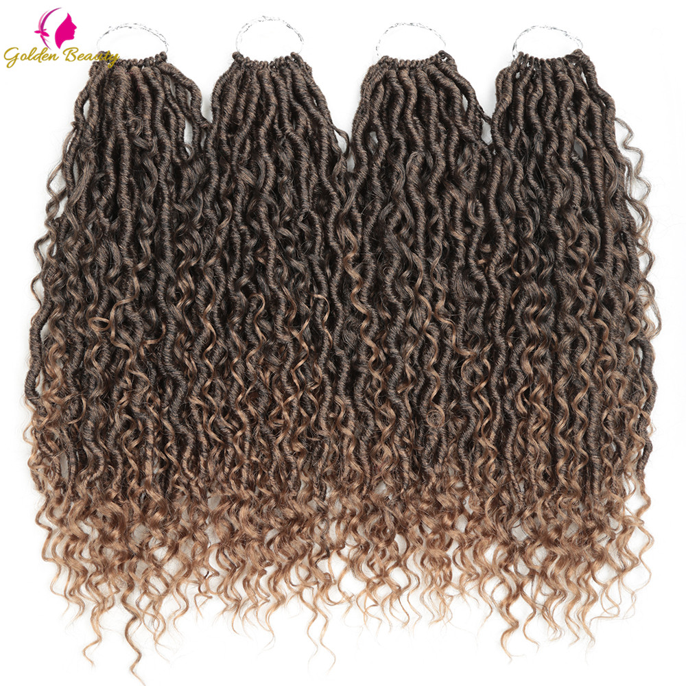 Goddess Locs Crochet Hair Extensions Synthetic Twist Braids Hair Locks Crochet Braids For Women 24 Strands 14inch 18inch Beauty
