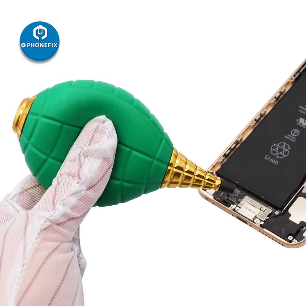 PHONEFIX silna dmuchawa powietrza odkurzacz pompy do obiektywu aparatu części elektroniki czyszczenie telefonu PCB tablica logiczna czyszczenie lutowania
