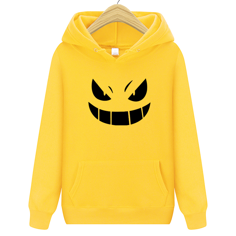 2020 Men's New Arrival Brand Hoodies  Printed Pokemon Go Pocket Monster Gengar Pullover Hoodie Sweatshirts Casual Fitness Hoody 1