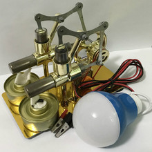 Teaching-Tool Physics Experiment Invention Engine-Model Stirling Steam-Power Balanced