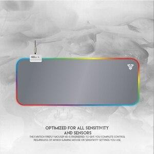 Image 3 - FANTECH MPR800S גדול משטח עכבר RGB מקצוע משחקי משטח עכבר 80X30X0.04cm עכבר מחצלת עם נעילת קצה עבור FPS LOL גיימר (לבן