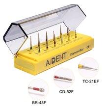 12 pcs/set AI-FGS08 Diamond Nail Drill Bit Dental Diamond Grinding Polish Burs for Precision Grinding