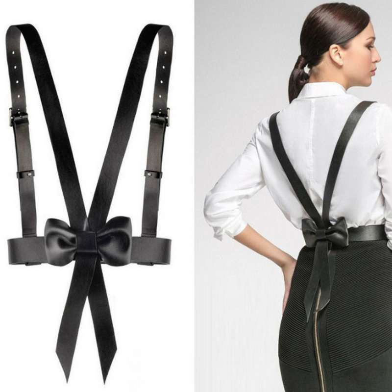 2020 New Design Fashion Trendy Spring Corset Belt Female Bow Casual High Street Strap Waistband Female Punk Style Belt ZJ983