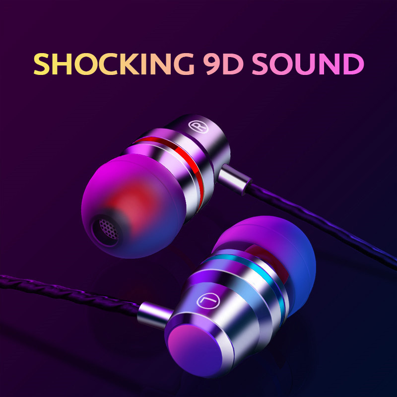 In-Ear Wired Earphone 3.5mm Earbuds Earphones Music Sport Gaming Headset With Mic For IPhone Xiaomi Samsung Huawei Stereo