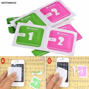 Image 5 - 740Pcs Wet Dry Cleaning Wipes Cloth Alcohol Wipes for Tempered Glass Screen Protector Camera Lens LCD Screens Dust Removal Wipes