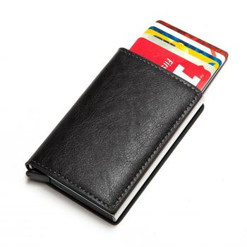 Aluminium Metal Credit Business Mini portfel na karty 2020 Dropshipping mężczyzna kobiet inteligentny portfel wizytownik Rfid portfel tanie i dobre opinie ZOVYVOL CN (pochodzenie) 9810 Kieszonka na monety Uwaga przedziału Posiadacz karty Krótki Unisex 0 065kg Skóra syntetyczna
