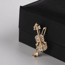 Vintage Music Violin Brooch