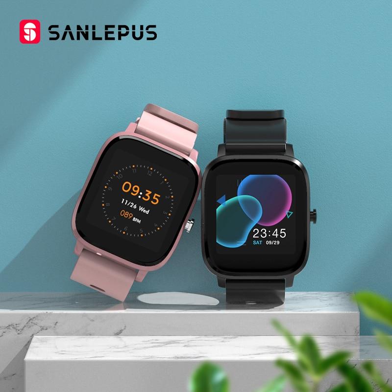 SANLEPUS Global Version Smart Watch 7 Sport Modes IP67 Waterproof Bluetooth Smartwatch Heart Rate Monitor Men Women Smart Band