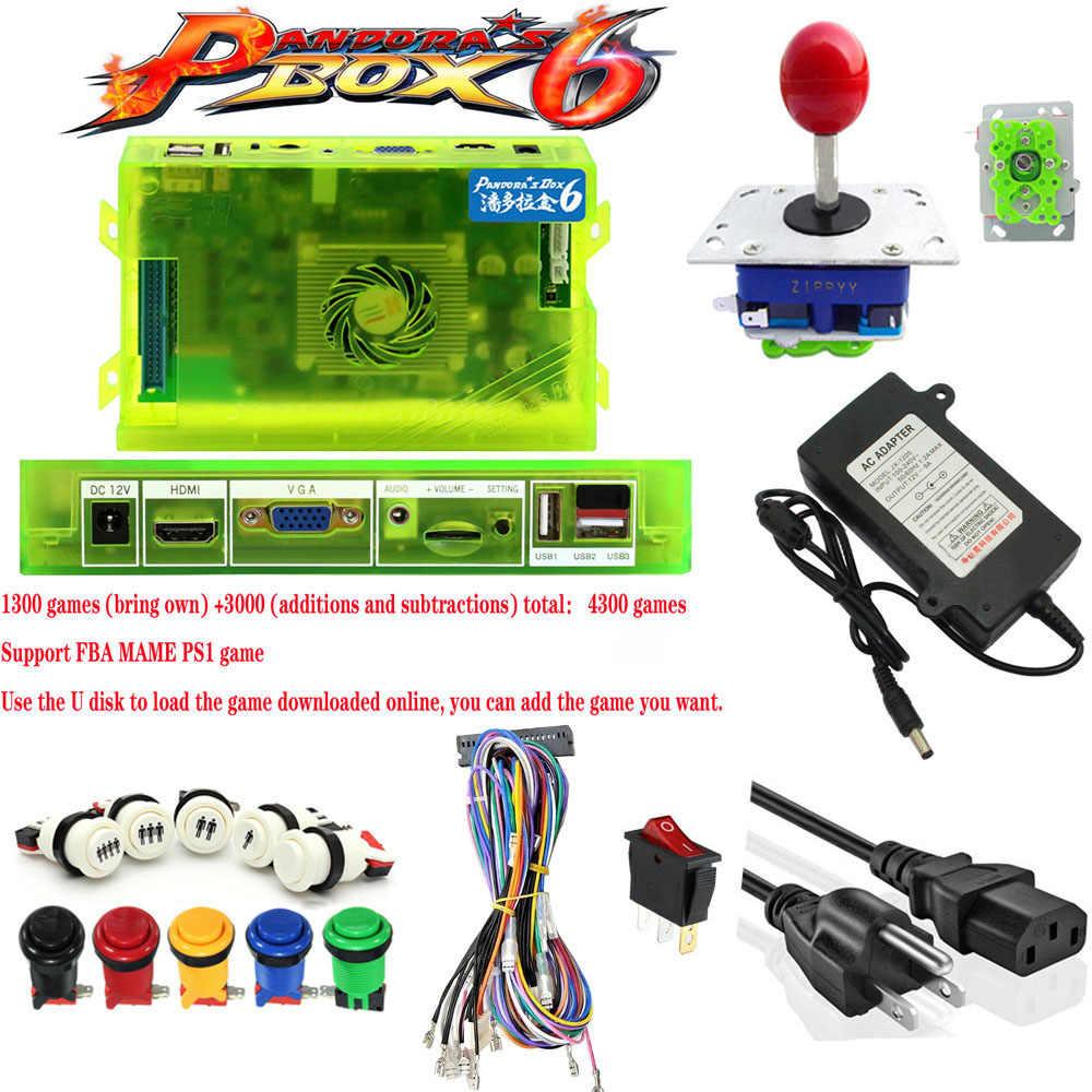 Bricolage Jamma Arcade kit pièces Bundle 1300 en 1 jeu classique PCB encodeur/bouton poussoir/Joystick pour jeux d'arcade MAME