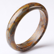 Natural Color Brown Jade Bangle Bracelet Genuine Hand-Carved Charm Jewelry Fashion Accessories Amulet for Men Women Lucky Gifts