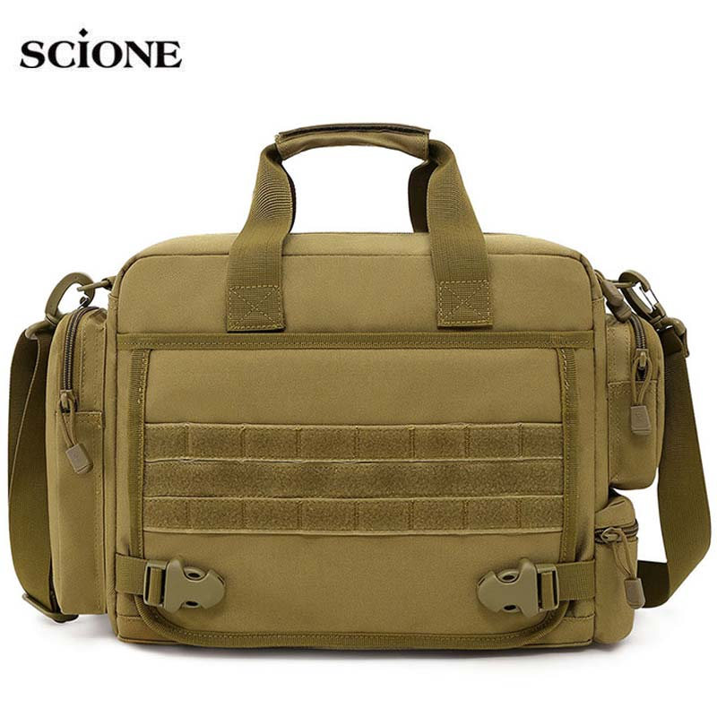 14inch Laptop Military Bag Tactical Bags Camouflage Army Camping Hiking Shoulder Travel Outdoor Molle Bag Sport Fishing XA182A