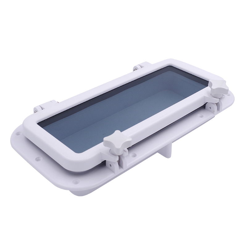 Marine <font><b>Boat</b></font> Yacht RV Porthole ABS Plastic Rectangular Hatches Port Lights Replacement Waterproof <font><b>Windows</b></font> Port Hole Portlight image