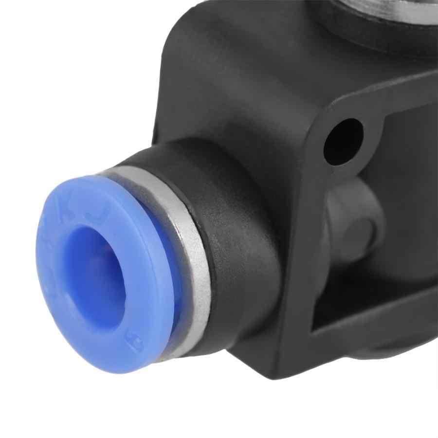 5 unids/set controlador de velocidad 6mm neumático de Control de flujo de aire conector de válvula de velocidad de flujo neumático