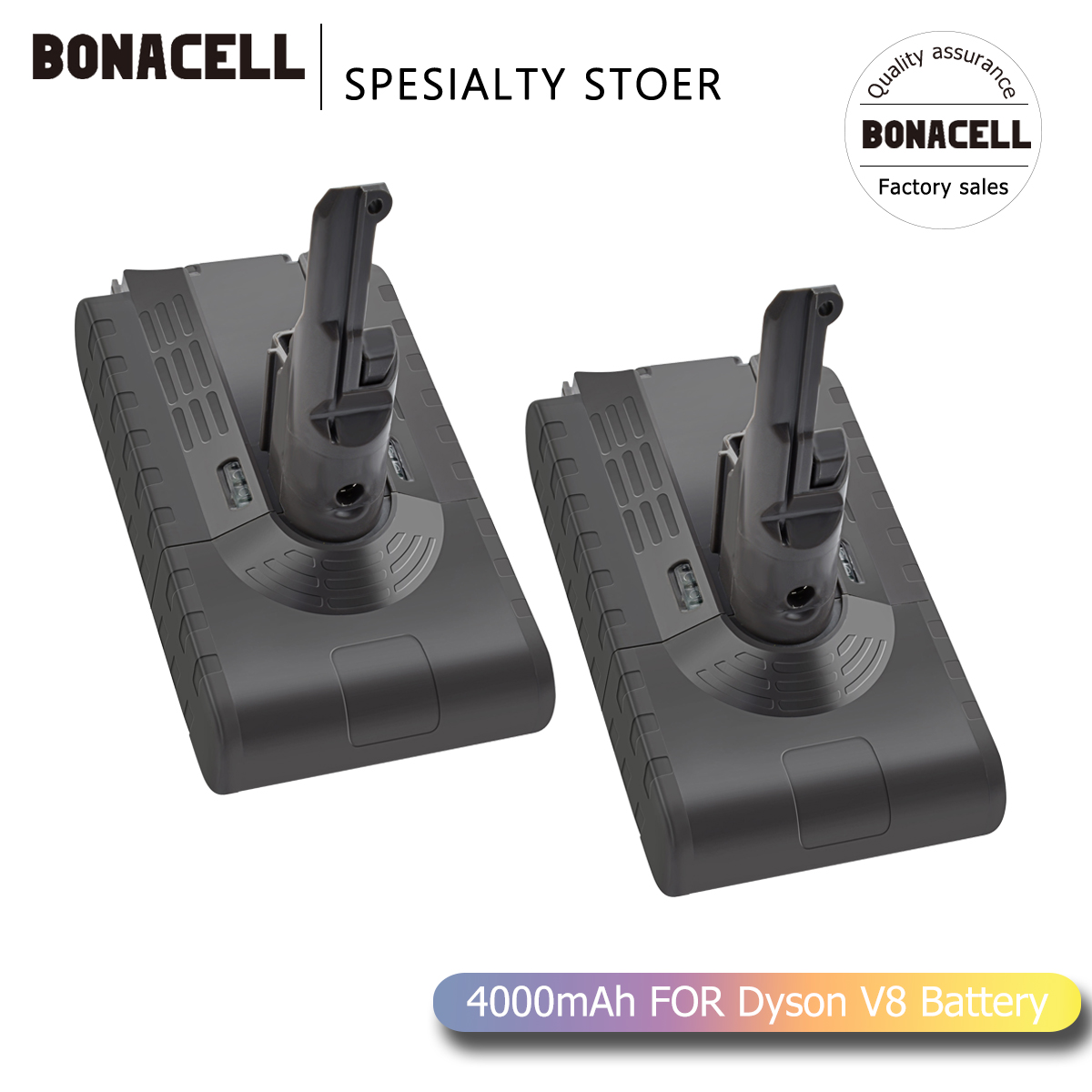 Bonacell V8 4000mAh 21.6V Battery For Dyson V8 Battery Absolute V8 Animal Li-ion Vacuum Cleaner Rechargeable BATTERY L70
