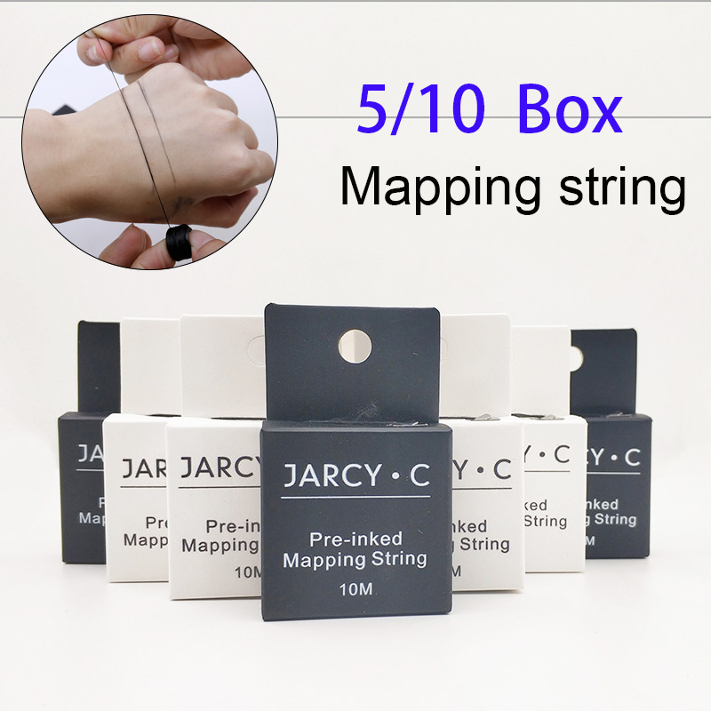5/10 Box Brow Pre-ink Mapping String With Microblading Eyebow Make Up Dyeing Thread For Permanent Positioning Eyebrow Measuring