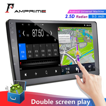 AMPrime 2 Din Car Radio 9 Touch Screen Car Audio Stereo Video Multimedia MP5 Player FM/USB/AUX/Bluetooth Camera For LAda Granta image