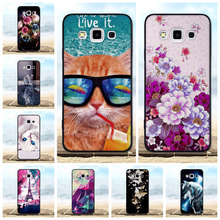 For Samsung Galaxy A3 Case Soft Silicone Black Cover 2015 A300F A300 Phone Cases 3D Cute Cat Bags