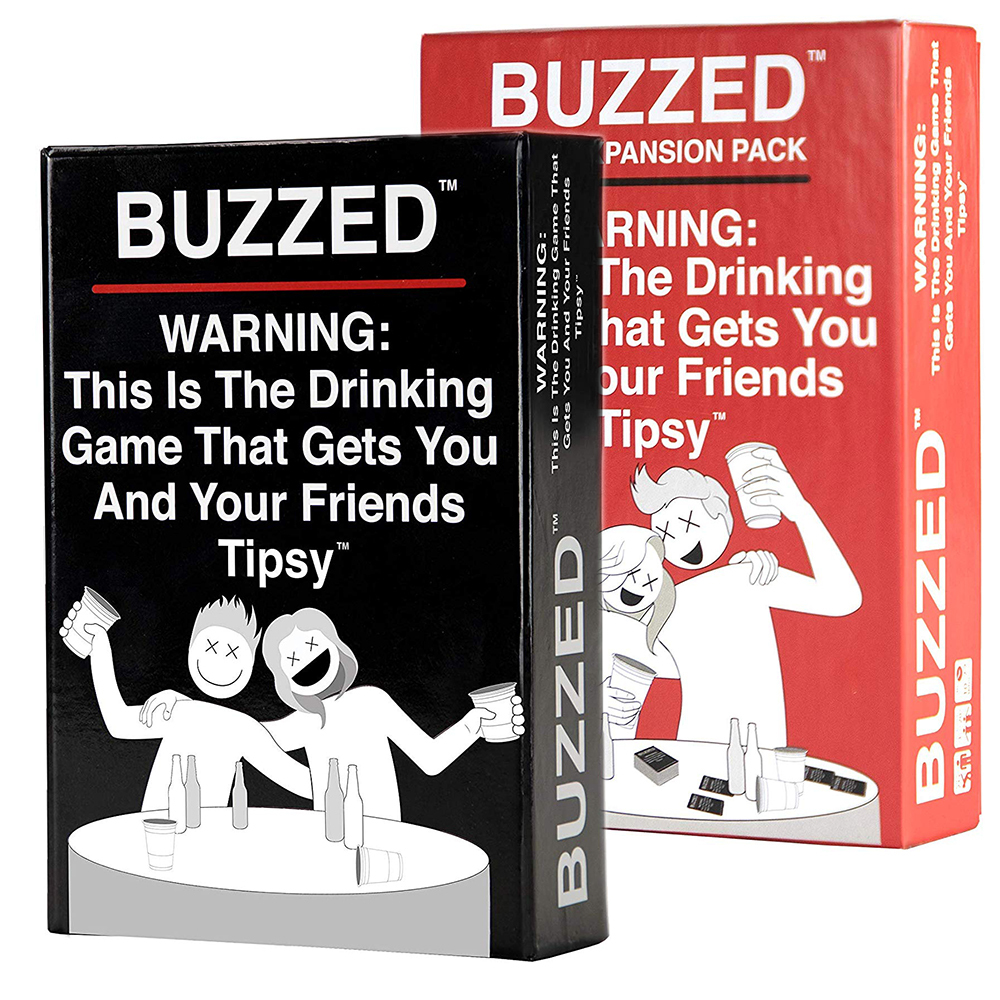 Buzzed This Is The Drinking Game That Gets You And Your Friends Tipsy And Wasted  And Expansion Pack Card Party Game Board Game