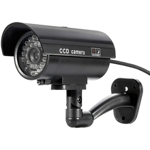 HONTUSEC подделка камера пуля манекен подделка наблюдение безопасность видеонаблюдение камера в помещении на улице с один светодиод свет безопасность оповещение черный