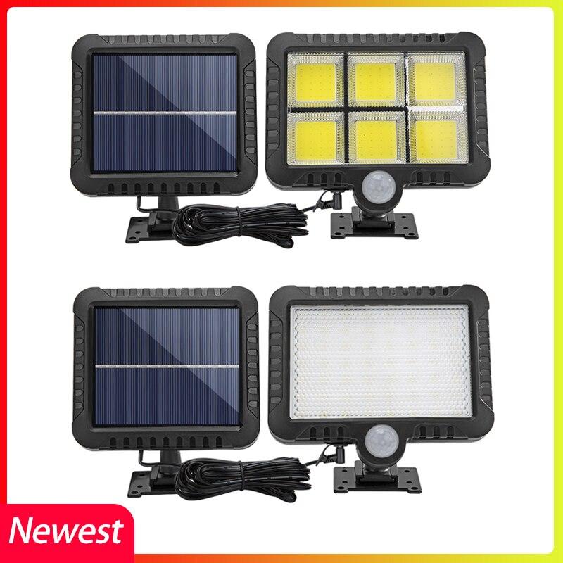 COB LED Solar Light Outdoor Lighting yard garage Security Light PIR Motion Sensor garden Decoration solar wall lamp Spotlight