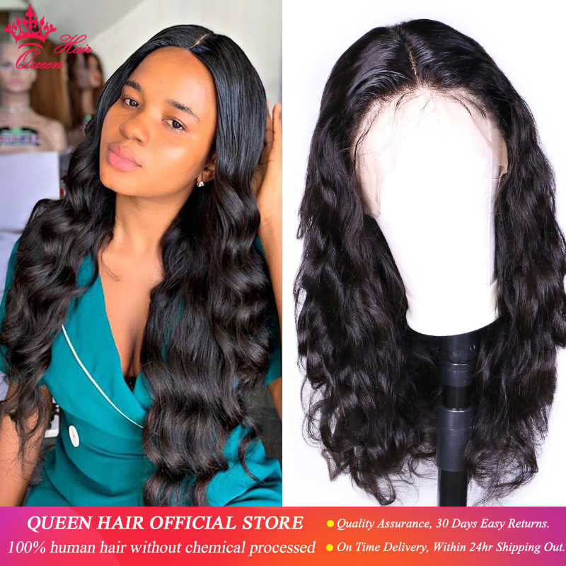 Queen Hair Lace Front Human Hair Wigs 13x6 HD Transparent Body Wave Pre-plucked100% Human Hair Natural Black Wigs For Women