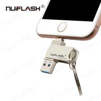 Unidad Flash USB de 128GB y 256GB, memoria externa para iPhone 3 en 1, memoria USB 3,0, Compatible con iPhone y iPad