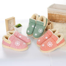 Dropshipping Winter Warm Ful Slippers Women Cotton Sheep Lovers Home Slippers Indoor Plush Size House Shoes Woman Wholesale(China)