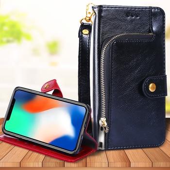 For Huawei Y9 Y7 Y6 Pro Prime 2019 2018 2017 Y5 III II Luxury Zipper Wallet Flip Leather Case Lanyard Card Slot Phone Cover Capa