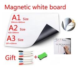 Магнитная белая доска магниты на холодильник прямая Адсорбция металлических поверхностей сухое протирание белая доска Магнитный маркер р...
