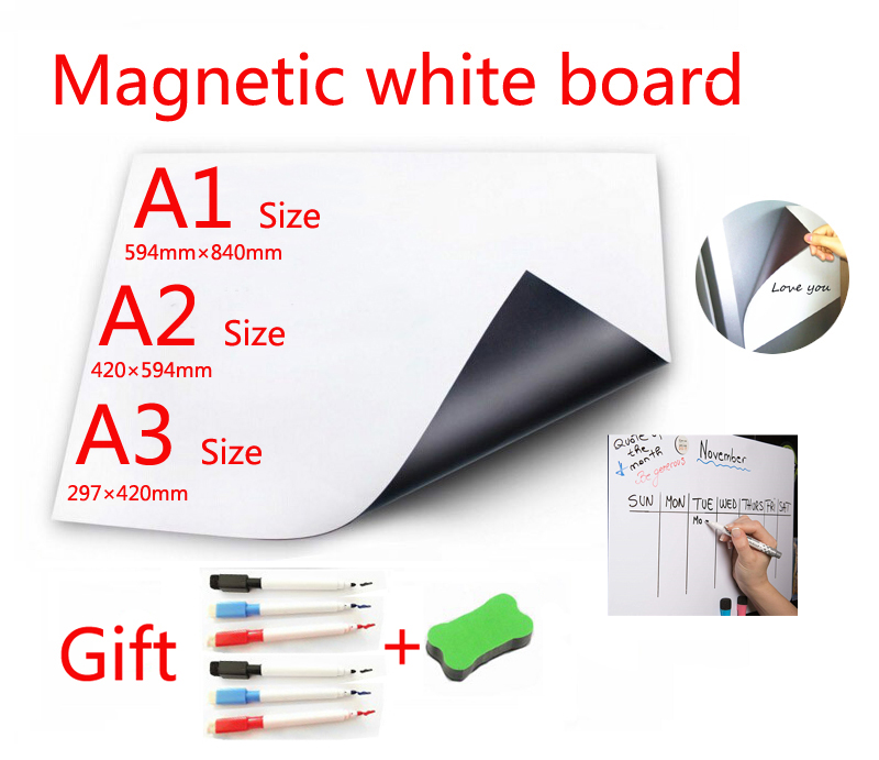 Tableau blanc magnétique aimants pour réfrigérateur Adsorption directe des Surfaces métalliques lingette sèche tableau blanc marqueur magnétique gomme