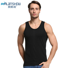 100% Cotton Mens undershirt Slim Fit Men Underwear Clothing Bodybuilding Undershirts Fitness